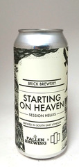 Brick Brewery Starting on Heaven Session Helles