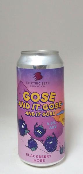 Electric Bear Gose & it Gose & it Gose Blackberry Gose