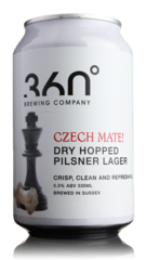 360 Degree Brewing Czech Mate! Dry Hopped Lager