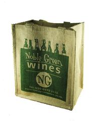 Noble Green 6 Bottle Jute Wine Carrier