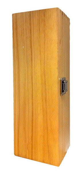1 Bottle Wooden Wine Box with Hinged Lid