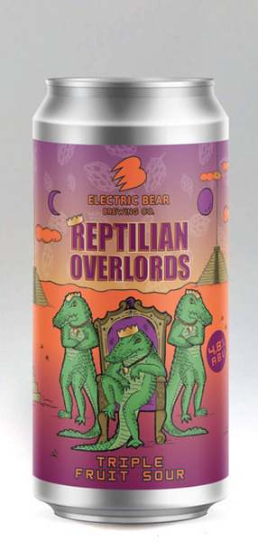 Electric Bear Reptilian Overlords Triple Fruit Sour